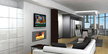 European Tower Living Room