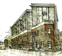 stadium lofts rendering