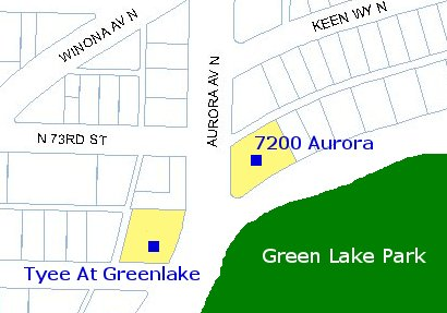 Green Lake Condo Map
