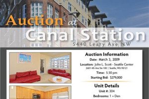 Single property auction hits Seattle