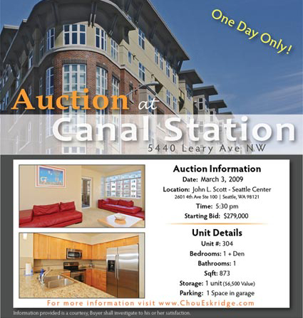 Canal station auction