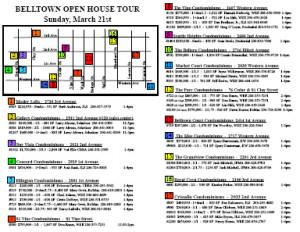 Belltown condo open house map
