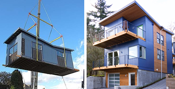 Alley house 2 green prefab seattle condos and lofts for Prefabricated homes seattle