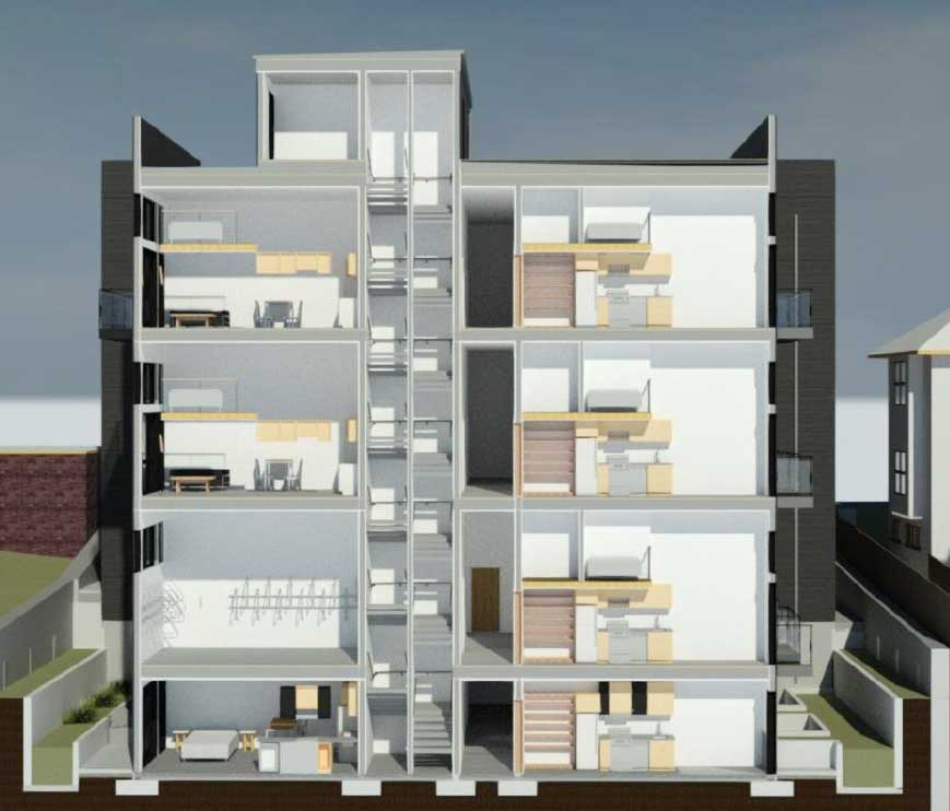 Franklin Ave Condo cross section
