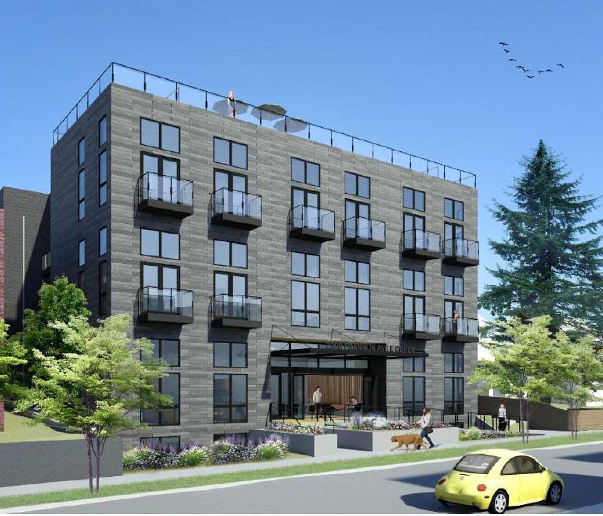 Franklin Ave Condo exterior facade
