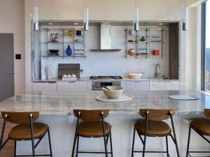 Spire Condo Private Dining Kitchen