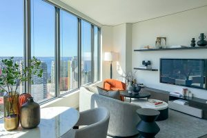 Spire Condo Open Living Space