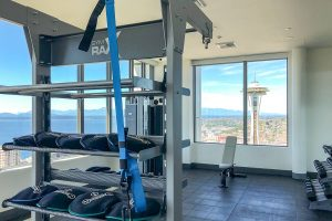 Spire Condo Seattle Fitness view